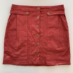 AMADI rust color skirt sz XL from Anthropology